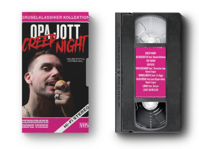 CREEP NIGHT - VHS Tape mit Booklet und Cover